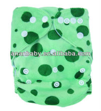 Wholesale Minky Diapers Double Row Snaps Breathable And Eco-Friendly Cloth Diapers