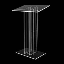Strong Durable Factory Customized Clear Acrylic Lectern Modern Church Podium