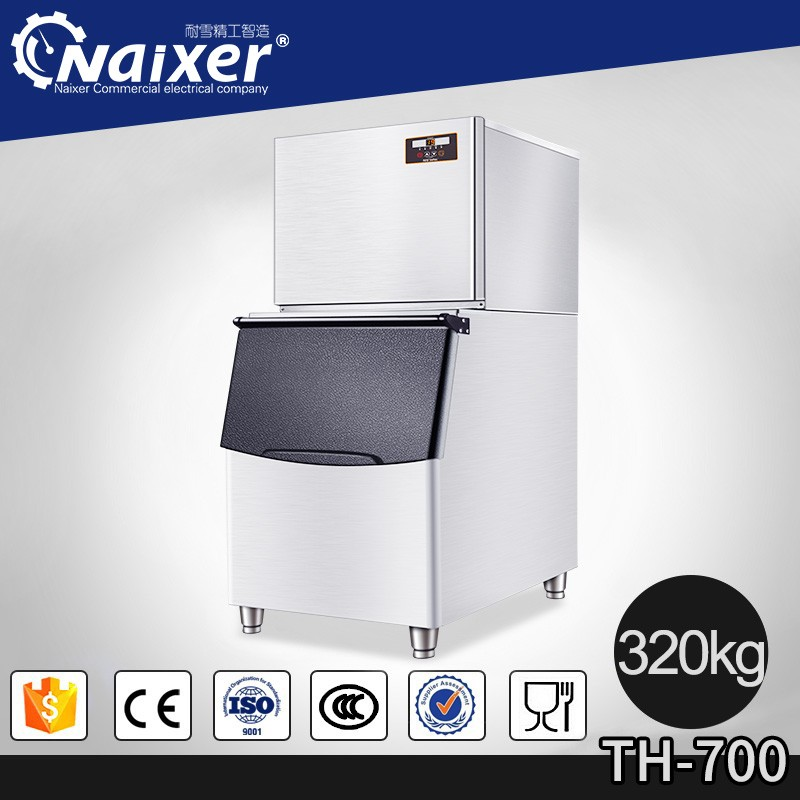 pop stainless steel ice maker Naixer commercial cube ice makers industrial block ice making machines 1250v