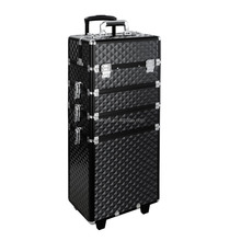 4 in 1 Professional Rolling Makeup Trolley Vanity Cosmetics Beauty Case Box Trolley Train Case