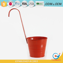 iron galvanized powder coated wall containers for plants metal plant hanging flower pot