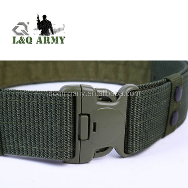 Army Military Trouser Buckle Belt Sports Waistband