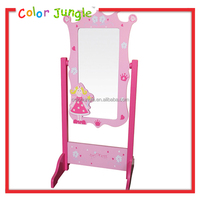 Kids home goods floor mirrors, hot sale mirror with stand