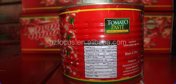 Easy open 400g/tin tomato table paste/tomato sauce factory ODM/OEM