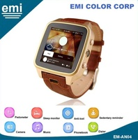 3G Android smart watch with 1.54'' touch display and MTK6572 Dual Core High Processing System Mobile Phone