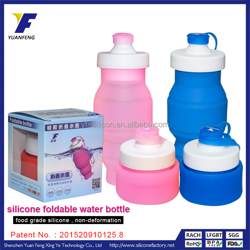 silicone collapsible bottle military water bottle for camping
