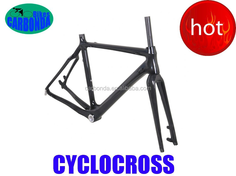 Toray T700 full carbon cyclo cross frame with inner cable disc brakes