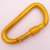 Heavy Duty Gold Alu Screw Sleeve Carabiner Connector Keyring