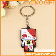 Custom promotional 2d/3d logo soft pvc key chain