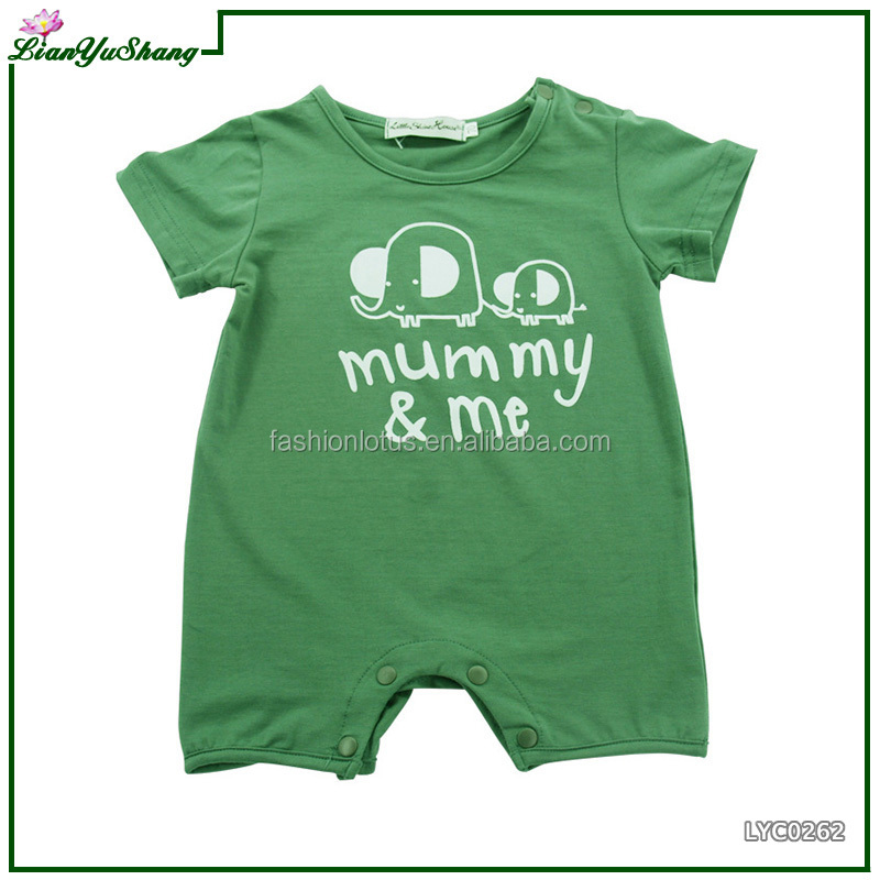 2017 Wholesale Cute Summer Boy Newborn Baby Girl Jumpsuit infant romper children boutique clothing