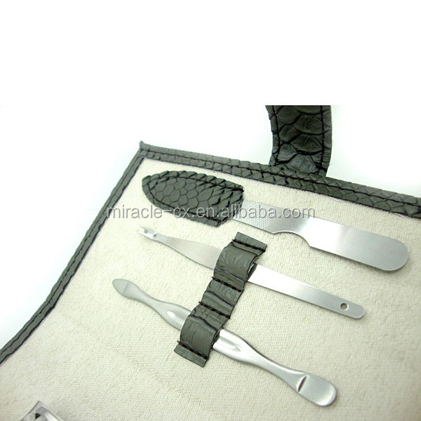 Purse size design manicure pouch 7pcs stainless steel nail kit lady manicure sets