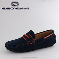 Navy blue Customized casual suede drving loafer shoes