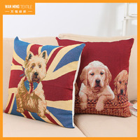 Cute 3d animal dog Digital Printed Linen Sofa Car Home Decor funny pillow cases