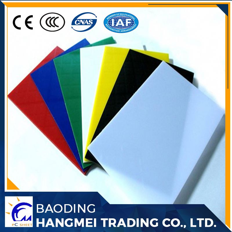 ISO9001 quality insurance best roofing material for flat solid polycarbonate sheet roof