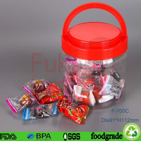 Plastic Cylinder Tin Tube Container with Screw Top Lid, 700ml Clear Plastic Container,Cookie Jar Clear