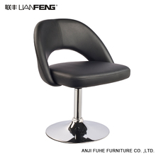 LIANFENG high quality lift black bar stool chair with chrome base