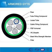 Duct/Aerial Light-armored Fiber Cable GYTS;OEM offered