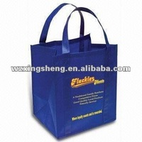 2013 free sample promotion slogan nonwoven bag pp nonwoven shopping bag