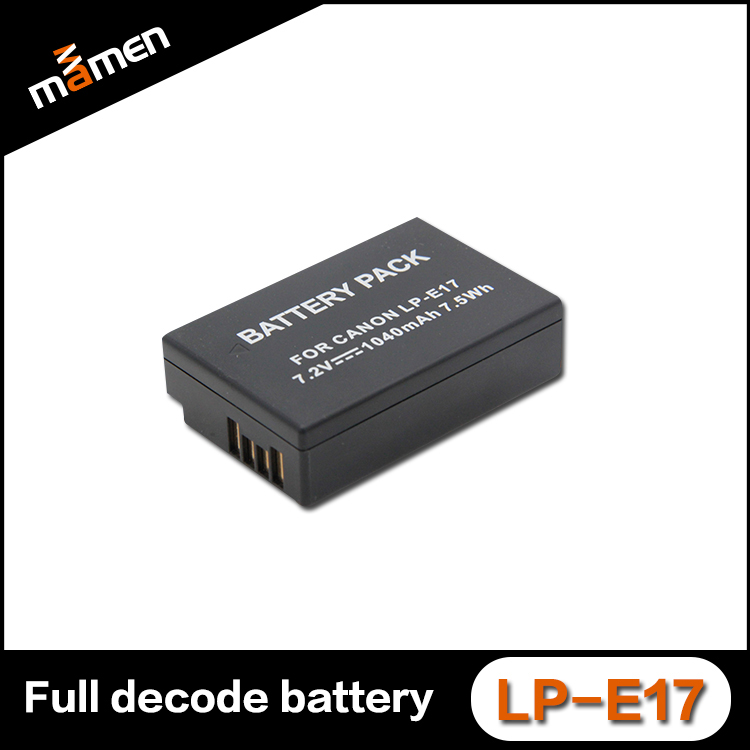 Factory World premiere LP-E17 full decode digital camera battery for Canon EOS 800D/77D M3