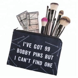 Black Letter Square Cosmetic Bag Pick-up Bag Women, Small Order Are Available