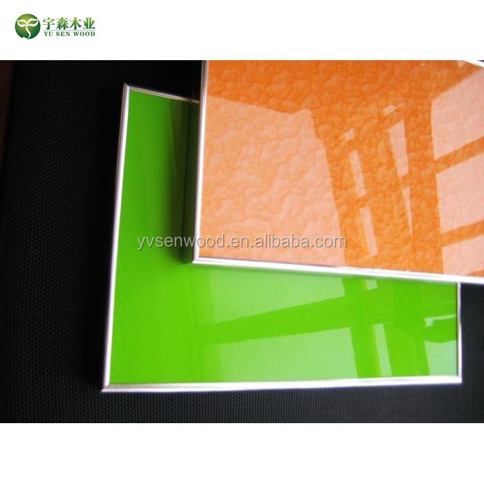 high glossy UV kitchen cabinet door for integrated kitchen