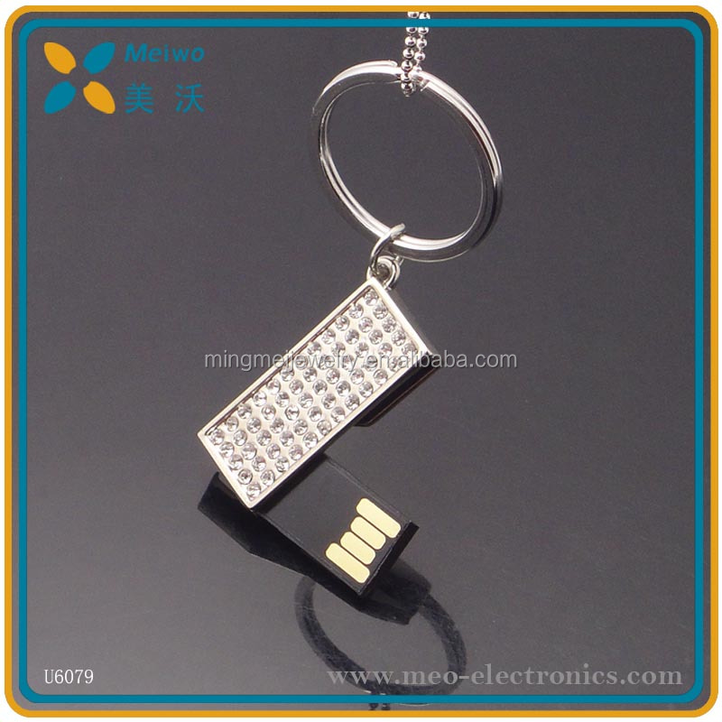 Promotion swivel jewerly pen drive 2gb , jewerly usb flash drive 8gb with keychain