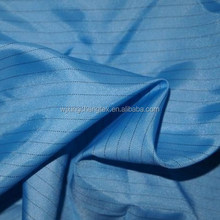Wujiang fabrics Textiles polyester anti-static fabric /ESD fabric/ conductive yarn antistatic yarn fabric