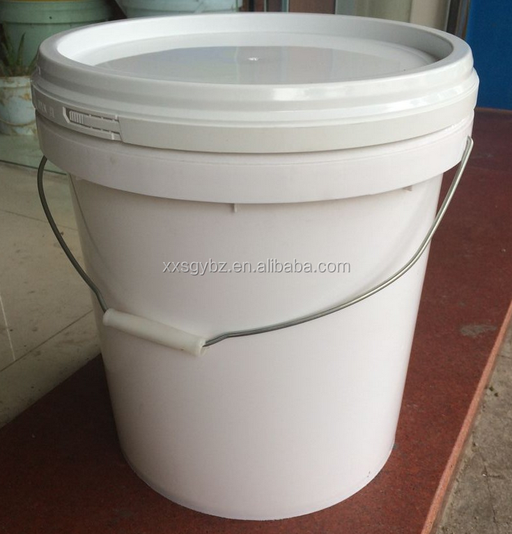 Hot sale 6 gallon custom food plastic pail with handle