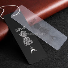 PVC Plastic Type and Plastic Material clear hang tag