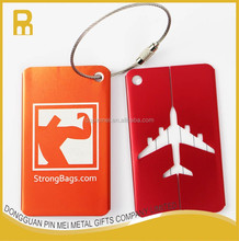 Custom logo aluminum luggage name tag