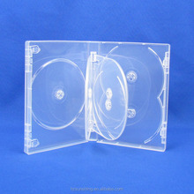 China 7 cd storage pp box factory price plastic clear multi 7 dvd discs case