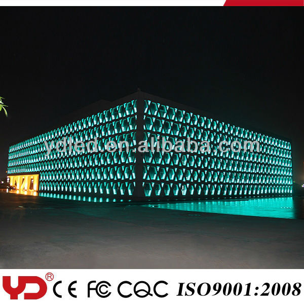 IP68 V-0 outdoor rgb led wall washer for building display