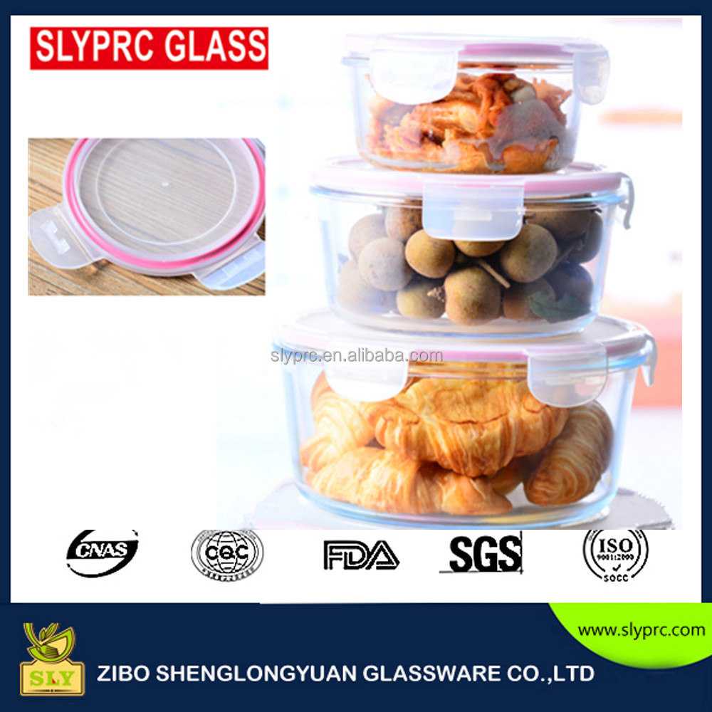plastic lid borosilicate glass ovenware with cover