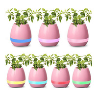 Newest Music Wireless Flower Pot Speaker Bluetooth with 7 LED Colorful Lights