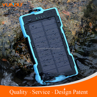 2016 13000mah high capacity solar battery charger waterproof shockproof solar cell phone charger for iphones series