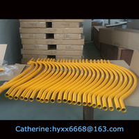 Yellow aluminium bend tube