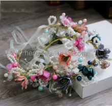 India Creative Pearl Strands Flower Garland Wedding Gift Decoration