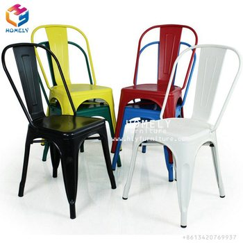 Industrial Vintage Outdoor Metal Chairs