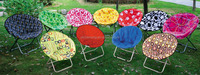 Portable folding hot promotion 2015 round moon chair for indoor and outdoor