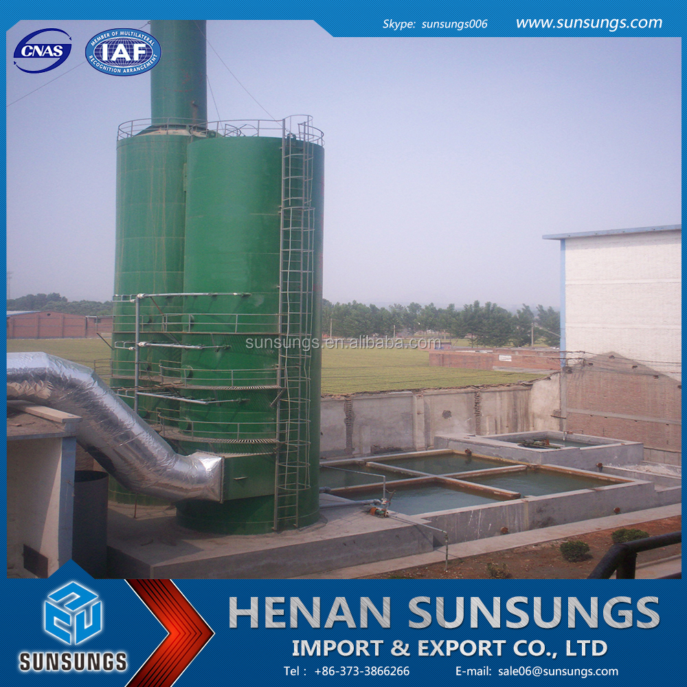 Waste gas wet scrubber for cleaning sulfur compound and nitrogen compound gases