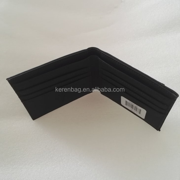 alibaba china supplier men pu rfid card sleeve wallet with package box