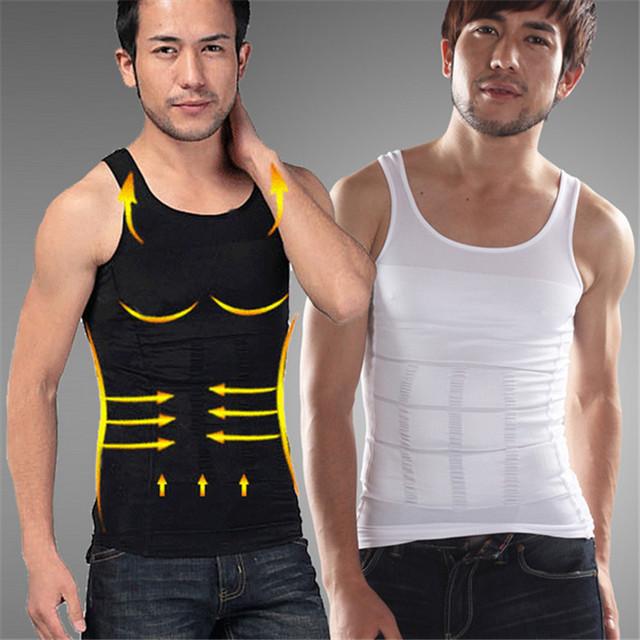 Fashion Body Shaper Men Slimming Undershirts Elastic Sculpting Vest Abdomen Slim Tummy Waist Compression Girdle
