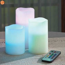 Set of 3 Electronic RGB Color Changing Remote Control Led Candles Wholesale