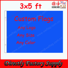 Low MOQ 100D Polyester Custom Flag 3x5ft Cheap Price Advertising Flag Factory Direct Sell