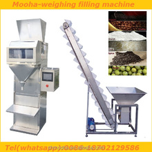 semi automatic coffee beans packing machine/coffee beans filling machine/coffee bean filler(double scales)