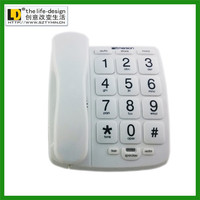 TM-PA023cheap corded basic desktop home te Elderly Corded Senior Phone Big Button Landline Desktop Corded Phone with Big Buttons