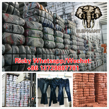 used clothes The most popular high quality fashionable used ladies jeans pants in 2017 second hand clothing