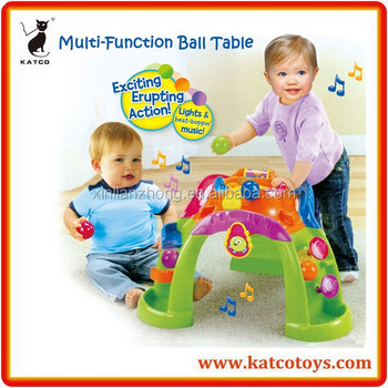 HOT Selling Multi-function Music Table Ball Popper Activity Toy Baby Walker Game Table