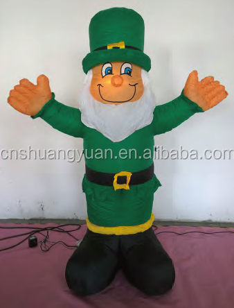 wholesale wearing a hat and dressed in military uniform inflatable santa