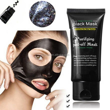 Private label salon purifying mud face deep cleansing peel off blackhead acne remover treatment bamboo charcoal black mask